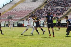 Una fase del match tra Messina e Ischia