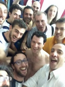 Selfie celebrativo della Vis Reggio
