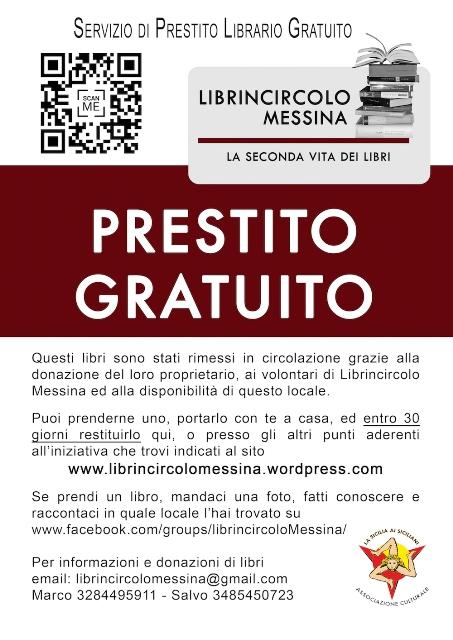Il cartellino di Librincircolo Messina