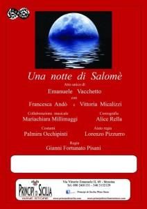 """Locandina """"Una notte di Salomè"""""""