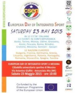 "Locandina ""European Day of Integrated Sport"""