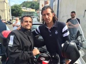 Giorgio Corona con Pietro Franza ai funerali di Salvatore FazzioGiorgio Corona con Pietro Franza ai funerali di Salvatore Fazzio