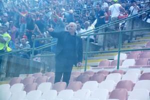 Lillo Foti assiste al match dalla Tribuna