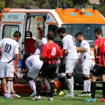 Kouadio esce in ambulanza