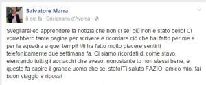 Il post dell'allenatore dell'Aversa Normanna Sasà Marra