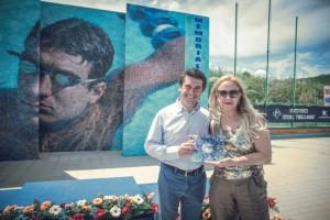L'organizzatrice Grazia Laganà con il presidente FIN Sicilia Sergio Parisi