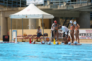 Un time out della Waterpolo (foto Roberta Fazio)