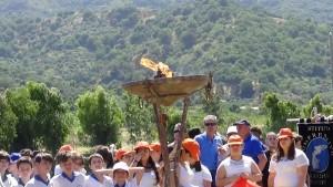 Il Braciere Olimpico alla manifestazione della Val d'Agrò