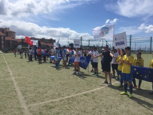 I partecipanti all'European day of integrated sport