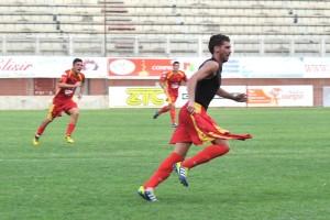 Giardina in gol nel derby con l'ACR del 2012