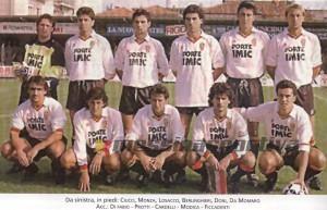 Una formazione del Messina del campionato 1989-90