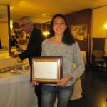 Costanza Verona col premio Molino