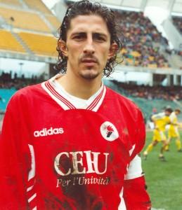 Igor Protti con la maglia del Bari
