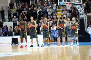 Il quintetto della Givova Scafati, nuova squadra di coach Perdichizzi