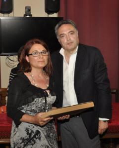 Eliana Sidoti con il prof. Bruschetta