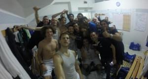 I giocatori di Agrigento nello spogliatoio