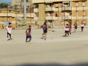 Fase di gioco Aga Messina-Barcelona ESORDIENTI
