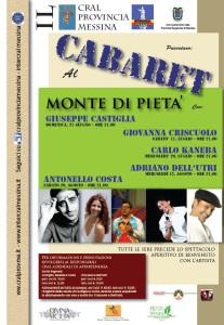 Locandina Cabaret al Monte di Pietà