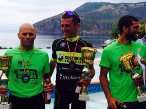 2° Aeolian Triathlon,  Sapienza, Boni e Barone