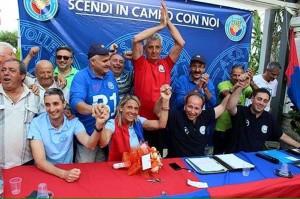 L'entusiasmo alla presentazione dello staff tecnico dell'Effe Volley