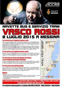 Servizio di bus navetta e tram per il concerto di Vasco