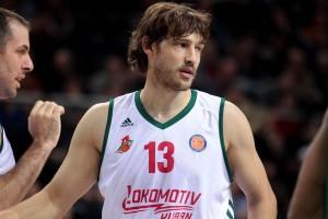Simas Jasaitis con la maglia del Lokomotiv Kuban