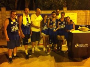La squadra vincitrice del Ciantro Arena Basket 3vs3