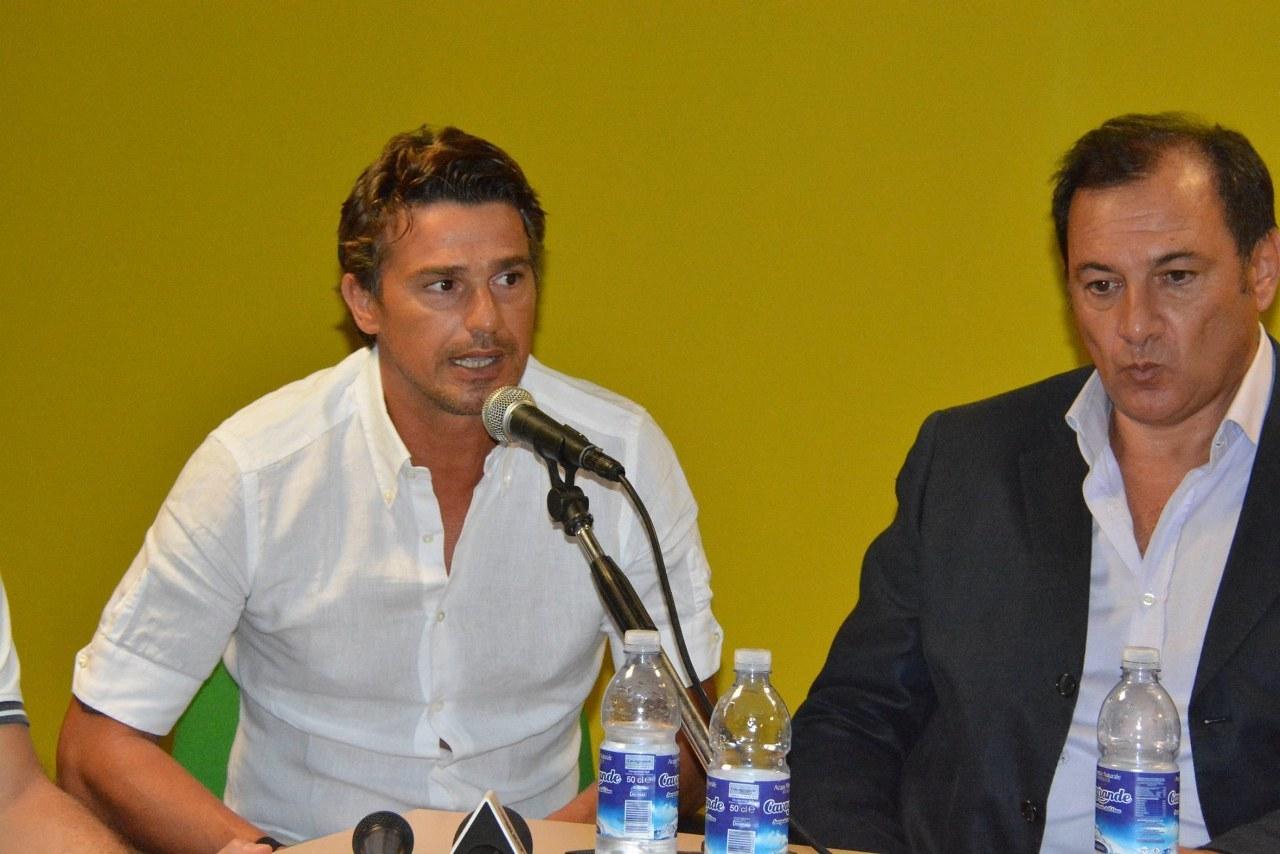 Il nuovo allenatore Arturo Di Napoli ed il socio Pietro Oliveri
