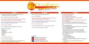 Il programma ufficiale del Messina OlymParty