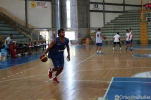 Gianluca Basile in allenamento