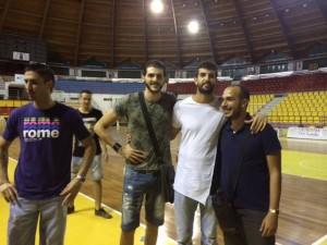 Migliori, Cefarelli e Bianconi col team manager Vincenzo Catanesi