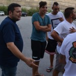 Il socio Nino Micali ed alcuni sostenitori