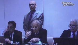 Il Presidente del Tribunale Federale Nazionale Sergio Artico