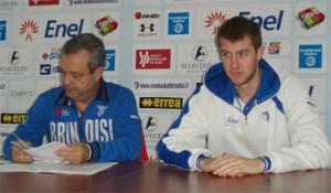 Malagoli con coach Perdichizzi ai tempi di Brindisi