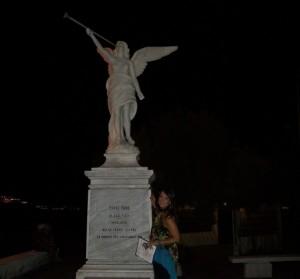 Silvana Paratore e la Statua della Vittoria Alata