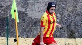 Matteo Serio in azione con la maglia della Mamertina