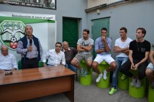 La conferenza stampa di presentazione degli ultimi acquisti: squadra costruita in gran fretta, proprio come il Messina
