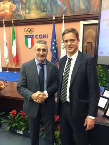 Basciano e il titolare di Stream Italia