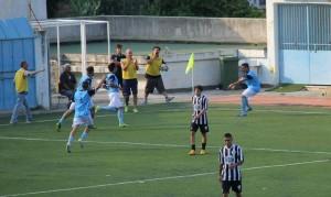 L'esultanza dello Sporting Taormina