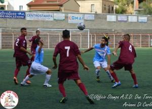 Una fase del match tra Due Torri e Aversa