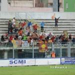 L'esultanza dei tifosi del Messina dopo l'1-1