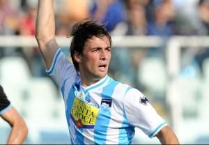 Ante Vukusic con la maglia del Pescara non ha rispettato le enormi aspettative