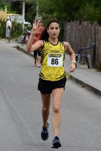 L'arrivo della vincitrice Giorgia Cappuccio