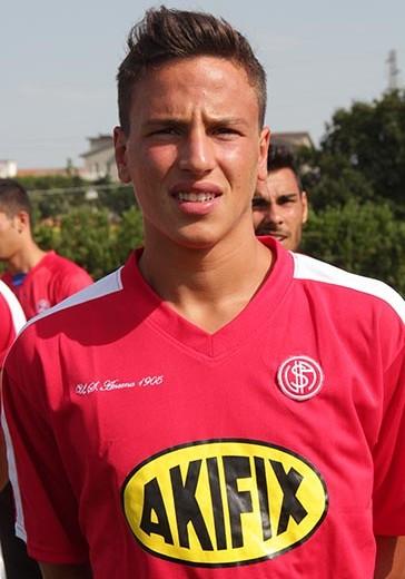 Aurelio-Barilaro con la divisa dell'Ancona
