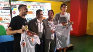 Berardi, Barraco e Burzigotti con il ds Argurio