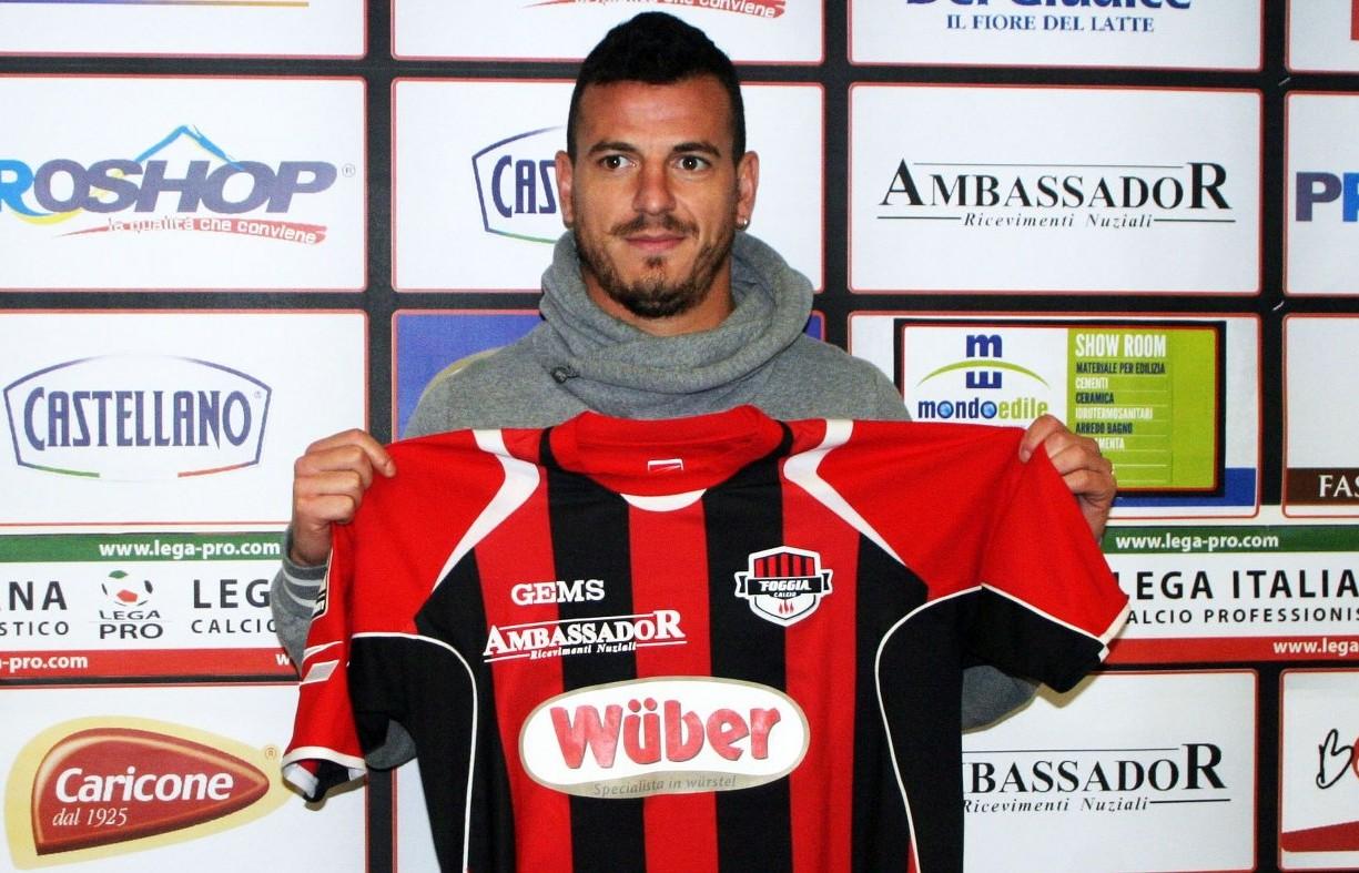 Dario Barraco con la maglia del Foggia