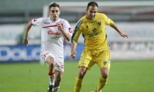 Diogo Tavares in azione con la maglia del Frosinone