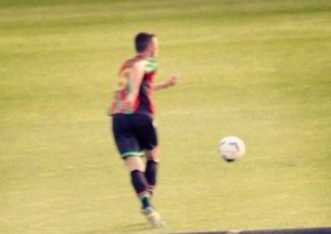 Sebastian Fusca in azione con la maglia della Ternana