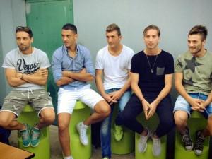Gambino, Esposito, Pellegrino, Pisseri e Rosafio alla presentazione del Monopoli