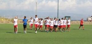 Il Città di Messina in allenamento